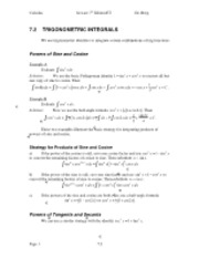 Calculus Notes 7E 7.2