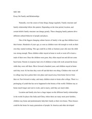 Family Relationship Essay