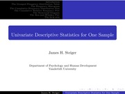 Psychology 310_Steiger_Lecture Notes on Single Sample Univariate Data Display