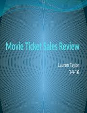 Movie Ticket Sales Review