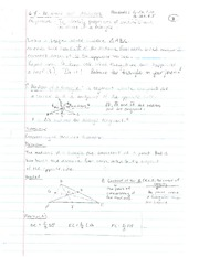 Median and Altitude Notes