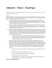 phi 445 final paper Phi 445 phi445 phi/445 week 5 assignment final paper latest download here you are an ethnographic researcher writing an article for a popular organizational behavior research journal your purpose is to identify key problems related to business ethics in a not-for-profit and for.