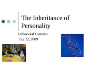 Genetics, Evolution, and Personality POST