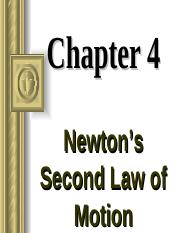 Chapter 4  Newtons second law