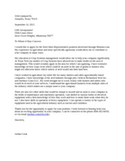 Letter of Application/ cover Letter Example