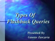 Types Of Flashback Queries