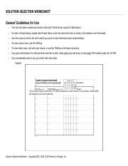 24 Solution Selection Worksheet.fin2-USE