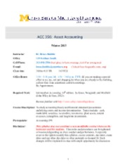 Accounting 356 Winter 2013 Syllabus v2