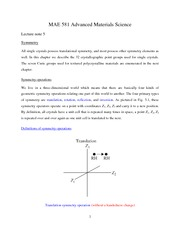 Lecture note 5 (09-20-2011)