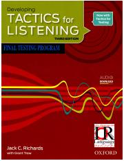 Developing-Tactics for Listening-Final Test
