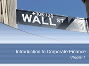 Chapter 1 - Intro to Corporate Finance