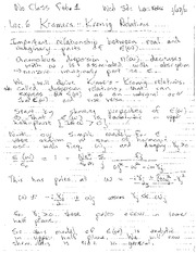 Lecture Notes F on Electricity and Magnetism