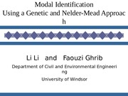 modal identificaion project