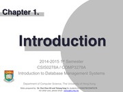 CSIS0278 Chapter1 Introduction