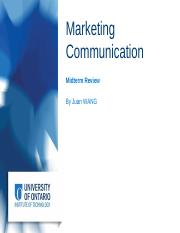 BUSI 3200 - Marketing Communication (Midterm Review) (1)