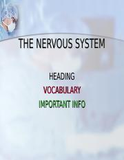 NERVOUS SYSTEM-for Cornell Notes.ppt