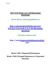 ACCT 212 Week 1 to 7 All Discussion Questions.doc