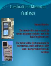 jy 7 Classification of Mechanical Ventilators 2