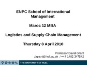 ENPC MBA Lecture Slides 2010 Day 4