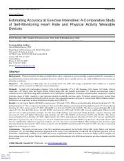 A Comparative Study of Self-Monitoring Heart Rate and Physical Activity Wearable Devices
