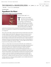 Equalizers No More - The Chronicle of Higher Education.pdf