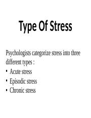 Type of stress