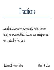 Flash Cards Chap 2 Fractions unfinished