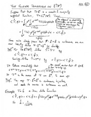 Lecture Notes on Fourier Transform