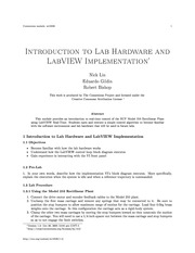 Introduction to Lab Hardware and LabVIEW Implementation