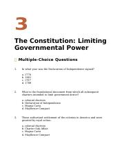 CAU American Government Dye Ch. 3 questions Class work ques. 1-25 Ch. 3 without answers.docx