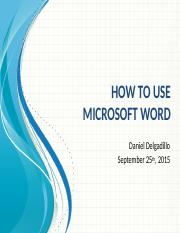 How to Use Microsoft Word 2015.pptx