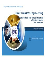 Chapter 8 Heat and temperature rise in friction system and actuator