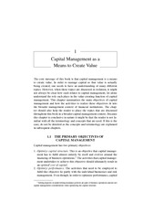 Chapter 1 Capital Management as a Means to Create Value
