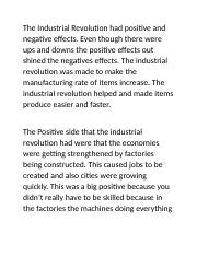 The Industrial Revolution had positive and negative effects.docx