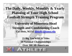 Daily Weekly Monthly Yearly Plannning Of Strength Plans