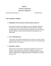 IT project management homework assignment 2