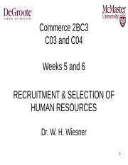 2BC3+Weeks+5,+6++7+Recruitment++Selection+-+Handout.PPT