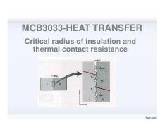 Lecture 6-Critical radius of insulation and thermal contact resistance
