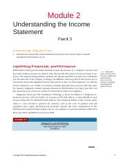 Module 2 -Understanding the Income Statement - Part 3