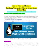 How to Find and Remove Duplicate-Unwanted Files in Linux Using FSlint Tool