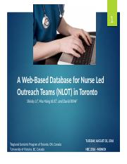 059_Shirley Li_A Web-Based Database for Nurse Led Outreach Teams August 30 2016.pptx