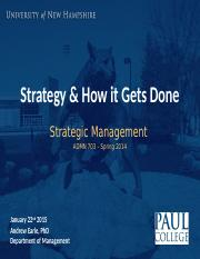 UNH ADMN 703 (Spring 2015-2 What is Strategy_) (1)