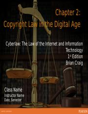Ch 2 Copyright Law in the Digital Age