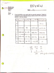 MATH1095, Final Review & Answers