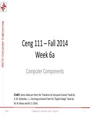 Ceng111-2014--Week6a -- Computer Components.pdf