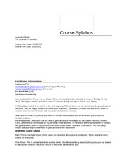 CourseSyllabus for the Science of Nutrition