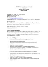 REC390 Syllabus - Fall 2015(2)