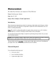 Light Switch Memorandum (good sample).pdf