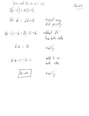 Solve And Describe Each Step Class Note For MPM 1D0