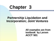Chapter 3 Partnership Liquidation and Incorporation